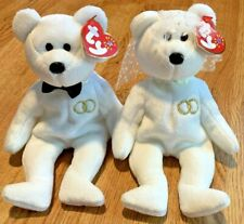 Ty Beanie Babies Wedding Couple Pair Mr. And Mrs. 2001 Retired Bears