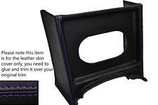 Púrpura Stitch Consola Parrilla Radio Envolvente De Cuero Skin Tapa se ajusta Mg Mgb temprana