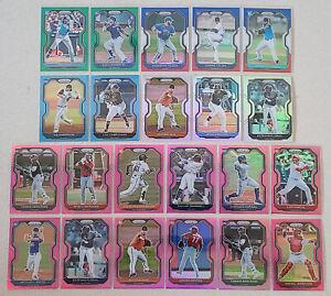 2021 Panini Prizm Rookie Base + Prizm Card Lot of 22 Silver Pink Aqua Red Blue