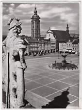 Echtes Original 1930er Jahre BUDWEIS Tschechien, Marktplatz
