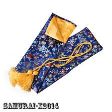 blue Silk Bag for Japanese Samurai Sword tanto small knife storage 70 cm