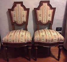 Antiquariato - Coppia di sedie antiche Luigi Filippo