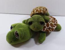 2 Sea Turtles Petting Zoo 2012 & 2013 Plush Soft Stuffed Animal Collectible