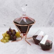 Diamond Carafe Wine Decanter & Glass Set