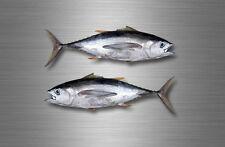 2x sticker vinyl fish boat kayak canoe fishing decal thon tuna saltwater