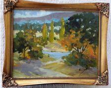EVA SZORC 2013 Landscape Painting Original Oil On Canvas Country Road 14 x 11