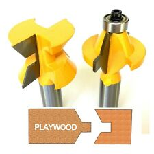 "2 pc 1/2""SH Edge Banding Joint Tongue & Groove Router bit Set S"