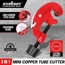 Tubing Cutter Copper Pipe Plumbing Brake Line Cutting Plastic PVC Brass HVAC NEW