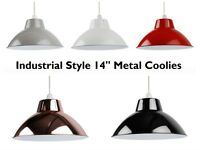 "Metal Industrial 14"" Coolie Pendant Lamp Shade Ceiling Light - Kitchen, Dining"