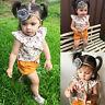 Toddler Kids Baby Girl Floral Tops Shirt+Shorts Pants Outfit Clothes 2PCS Set UK
