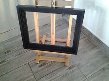 Encadrement Caisse américaine en bois ,Finition Satinée Noire ,Format Figure