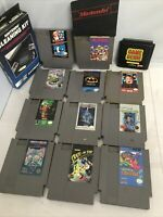 Nintendo NES vintage games lot of 11 + Sega Genesis Game Genie + Cleaning Kit