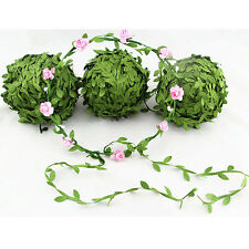 5M Silk Leaf Faux Artificial Green Leaves Home Decor Wreath Gifts Craft Flowers