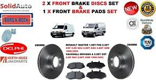 FOR RENAULT MASTER VAUXHALL MOVANO A FRONT BRAKE DISCS SET + DISC PADS KIT