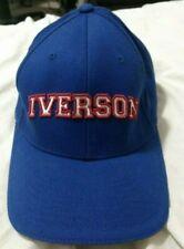 VTG Retro Allen Iverson Reebok Hat Flex Fit Sz S/M Flexfit Men Blue Red White