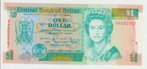 Belize 1 Dollar 1990 Pick 51 UNC