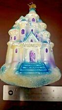 Christopher Radko Blue purple Cinderella Castle! Christmas Ornament Rare
