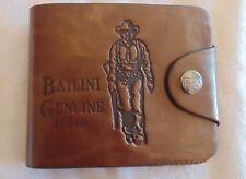 Leather Wallet Western Cowboy Theme Portefeuille Porte Monnaie