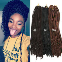 "18"" Afro Faux Locs Curly End Dreadlocks Synthetic Crochet Braids Hair Extensions"