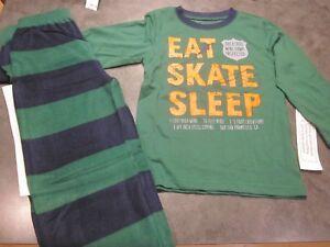 Gap Kids Boys Pajama Set Size 4 Skate NEW long sleeve + fleece pants $29