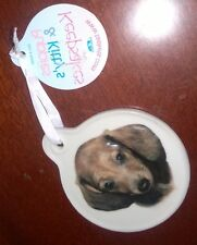 Dachshund Ornament - New with tag - Porcelain - Price Reduced!