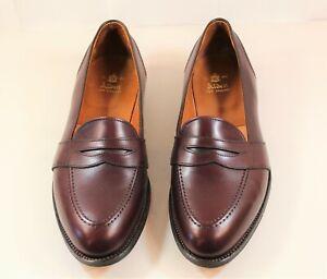 Alden Men's No. 683 Full Strap Slip On Burgundy Calf Skin, 11E Made In USA