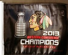 NEW Chicago Blackhawks '13 Western Conference Champs Stanley Cup Final Car Flag