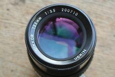 Nikon Nikkor 135mm 1:3.5 AI Lens Very Nice