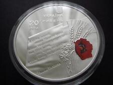 """Ukraine 20 Griven 2014 Silver coin """"70th Anniversary of Ukraine`s Liberation"""""""