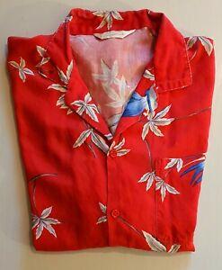 Hawaii Hemd Vintage Surfer Oldschool Shirt 90s surf Gr. L Red Aloha !!