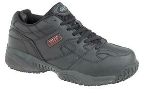 MENS WIDE FITTING TRAINERS BLACK SLIP RESISTANT