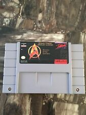 Snes Star Trek StarFleet Academy Cart Only L@@K