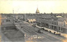 Cass City IL Dirt Street View Store Fronts Horse & Wagons in 1908 RPPC Postcard