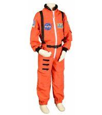Aeromax NASA Astronaut Suit Orange Space Flight Commander Costume Youth Size 4-6