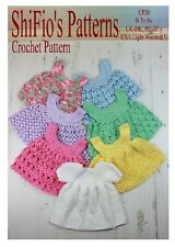CROCHET PATTERN for BABY GIRL DRESS & 6 APRONS #20 NOT CLOTHES