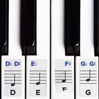 Piano Stickers for Keys, Removable Double Layer Coating 49/61/76/or 88 Keyboards