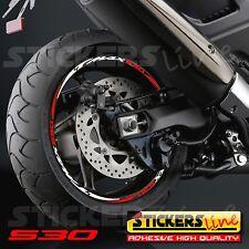 Adesivi ruote moto strisce cerchi YAMAHA TMAX 530 - Racing4 -  t max 530 tmax530