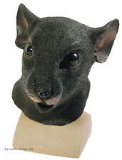 DELUXE BLACK RAT COSTUME MASK RATTY ANIMAL FULL OVERHEAD LATEX HALLOWEEN NEW