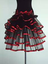 Black Red Burlesque Bustle Belt size 14 16 18 Sexy Fancydress The Tutu Store