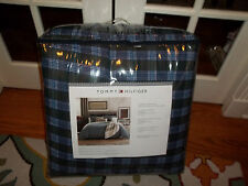 NIP Tommy Hilfiger Stone Cold Plaid Full/Queen Comforter Set 3pc