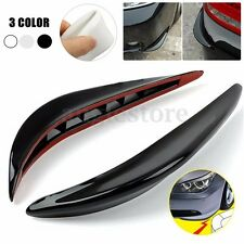2x Black Chrome Car Front Rear Bumper Protector Corner Guard Scratch Sticker Pad