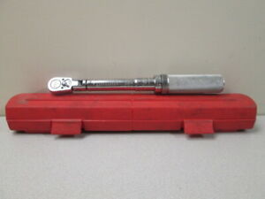 Snap On QJFR275E swivel head torque wrench w/case - TESTED (reads low, see decri