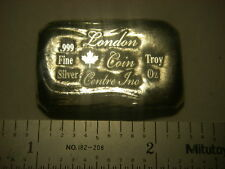 London Coin Centre, Canada hand poured 1 troy ounce 999 fine silver bar