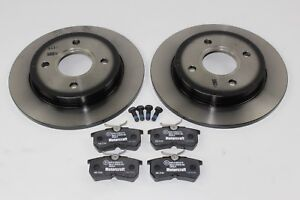 Original Brake Discs + Brake Pads Rear Ford Focus - Fiesta 1780880 +1425407