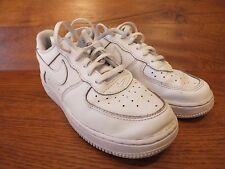 Kids Nike Air Force One White Leather Casual Trainer  UK 2 EU 34