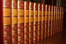 1882 Works of Harrison Ainsworth Finely Bound set by RAMAGE 16 Vols Cruikshank