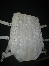 Vintage Boned Two Side Lace Up Corset Girdle Open Bottom