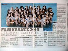 COUPURE DE PRESSE-CLIPPING : MISS France 2016 [5pages] 12/2015
