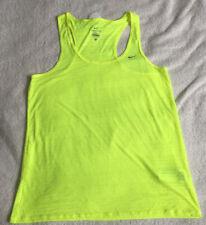 Nike Dri Fit Breeze Running Top Size L Neon Yellow
