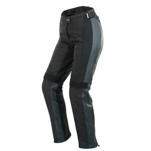 Spidi Teker Lady Leather Pants Motorcycle Motorbike Trouser Black